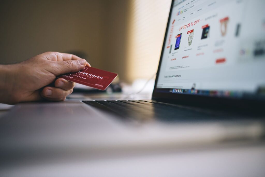 Person buying eCommerce products